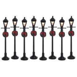 Gas Lantern Street Lamp Set of 8 B/O 4.5V Cod. 64500