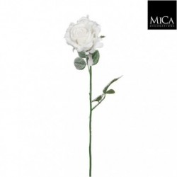 Rosa Bianca Artificiale 69 cm