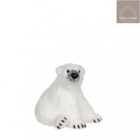 Orso Bianco Seduto Piccolo