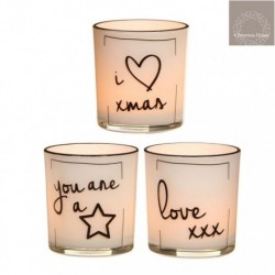 Bicchierini porta Tea Light con decoro
