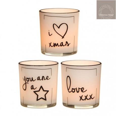 Bicchierini porta Tea Light con decoro