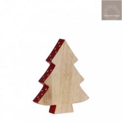 Albero di Natale con bordo Rosso Piccolo