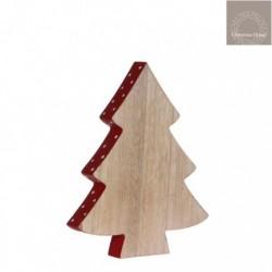 Albero di Natale con bordo Rosso Grande