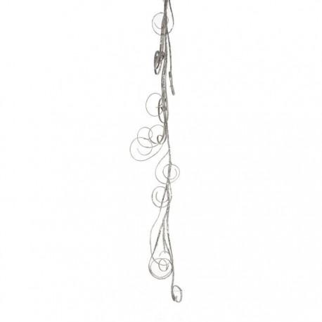 Rami arricciati color argento h120 cm.