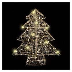 Albero di Natale in Metallo Argento Illuminato con Led