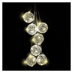 Palline Argento Illuminate con Led