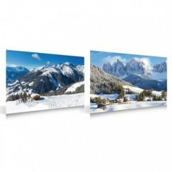 Poster Double Face Villaggio e Sport Invernali
