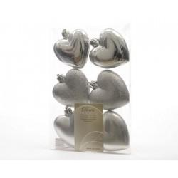Mini cuori in plastica da appendere