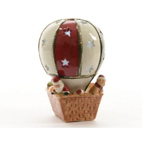 Mongolfiera piccola in ceramica con luce led
