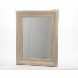 Specchio con cornice in legno naturale
