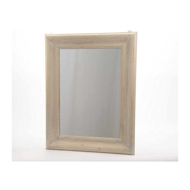 Specchio con cornice in legno naturale - Specchio con cornice in gesso ...
