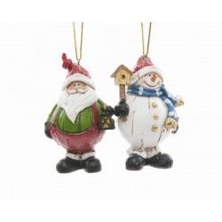 Babbo Natale con glitter da appendere. Pezzo singolo