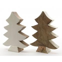 Albero di Natale legno medio. Pezzo singolo