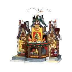Holiday Hamlet Christmas Shoppe With 4.5V Adaptor Cod. 55026