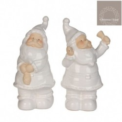 Babbo Natale In Ceramica Piccolo. Pezzo Singolo