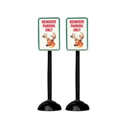 Reindeer Parking Only Sign Set of 2 Cod. 54939