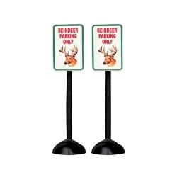 Reindeer Parking Only Sign Set of 2 Cod. 54939
