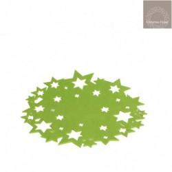 Sotto Piatto Con Stelle In Feltro Verde
