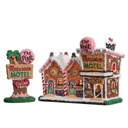 The Pink Macaroon Motel Set of 2 B/O 4.5V Cod. 75180