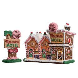 The Pink Macaroon Motel Set of 2 B/O (4.5V) Cod. 75180