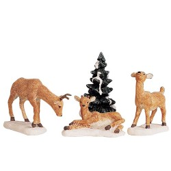 Dad and Fawns Set of 4 Cod. 92299