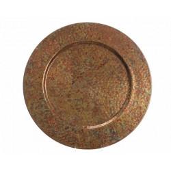 Sotto Piatto Grande in Metallo Dim. 50x50x6 cm