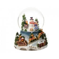 Palla di Neve con Bimbi Dim. 15x14x18 cm