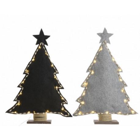 Alberi di Natale con Led Piccoli Dim. 8x29x40 cm 10 Luci. Pezzo Singolo