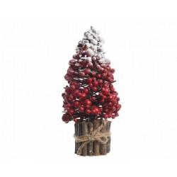 Albero con Bacche Rosse Piccolo Dim. 12x28 cm