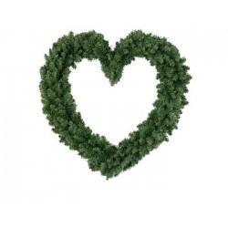 Ghirlanda Verde a Forma di Cuore 50 cm