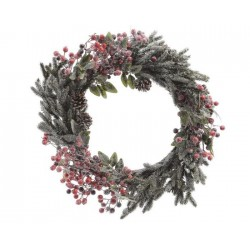 Ghirlanda Decorata con Neve Dim. 40x9 cm