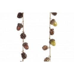 Ghirlanda di Ghiande e Glitter Dim. 100x2 cm. Pezzo Singolo