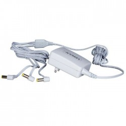 Power Adaptor 4.5V White 3-Output Fixed Plug Gs Cod. 74269