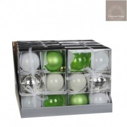 Palline Assortite Verdi. Set 6 Pezzi