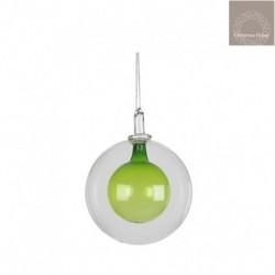 Pallina In Vetro Verde Trasparente