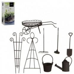 Mini giardino in metallo Anticato Start Pack. Set di 8