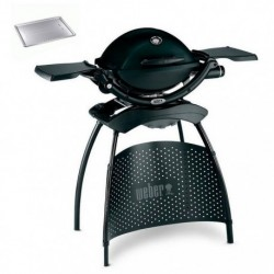 Barbecue a Gas Q 1200 (con Attacco per Cartuccia) Black Weber + Stand e Heat Cod. 51012453