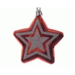 Stella Rossa da Appendere. Set di 2