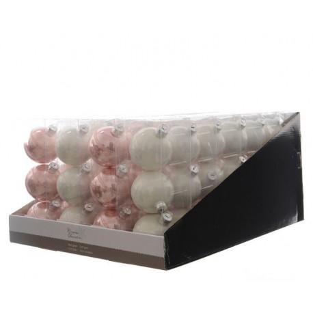Palline in vetro da appendere decorate set di 3 for Lampadario palline vetro