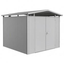 Casetta da Giardino in Metallo PANORAMA 2 con Porta a Due Battenti Biohort