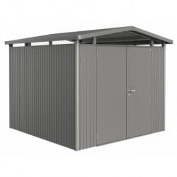 Casetta da Giardino in Metallo PANORAMA 3 con Porta a Due Battenti Biohort
