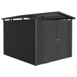 Casetta da Giardino in Metallo PANORAMA 4 con Porta a Due Battenti Biohort