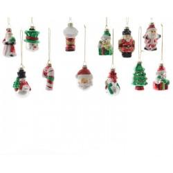Piccole soggetti natalizi in vetro. Pezzo Singolo
