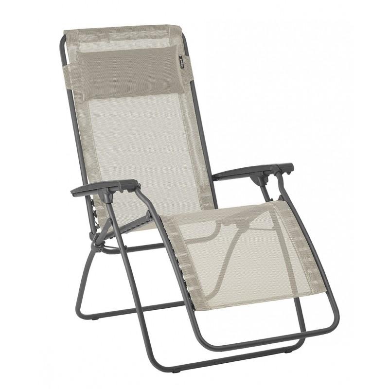Poltrona reclinabile sdraio r clip lafuma lfm4020 seigle for Poltrona reclinabile