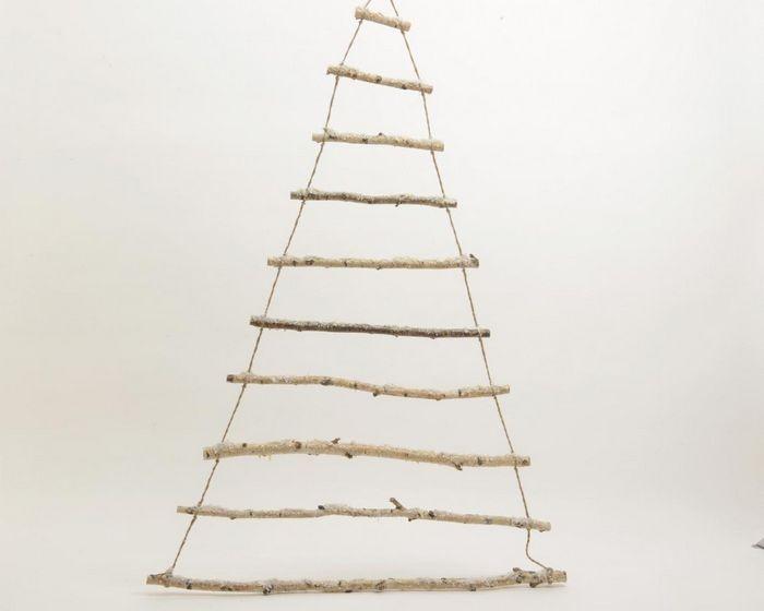Alberi Di Natale In Legno Da Appendere : Albero stilizzato in legno cm