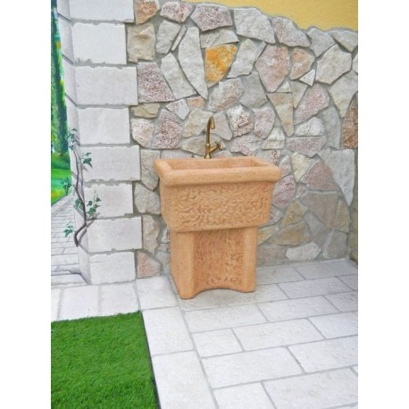 lavello a muro in pietra ricostruita dordogna tabacco. Black Bedroom Furniture Sets. Home Design Ideas