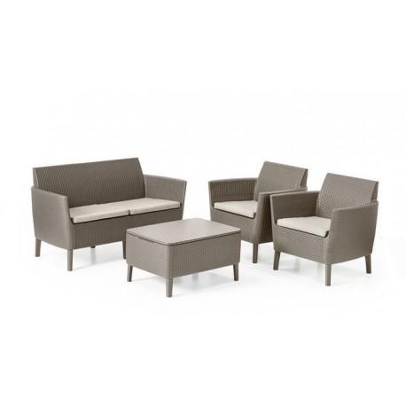 Keter Set Lounge 2 posti SALEMO Cappuccino dadolo.com