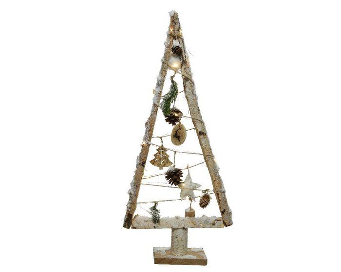 Albero Di Natale Stilizzato.Albero Di Natale Stilizzato Luminoso Naturale Dim 8 5x30x67 Cm