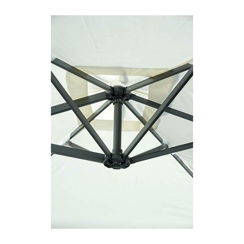 ombrellone rettangolare 3 x 2 mt fusto antracite con palo. Black Bedroom Furniture Sets. Home Design Ideas