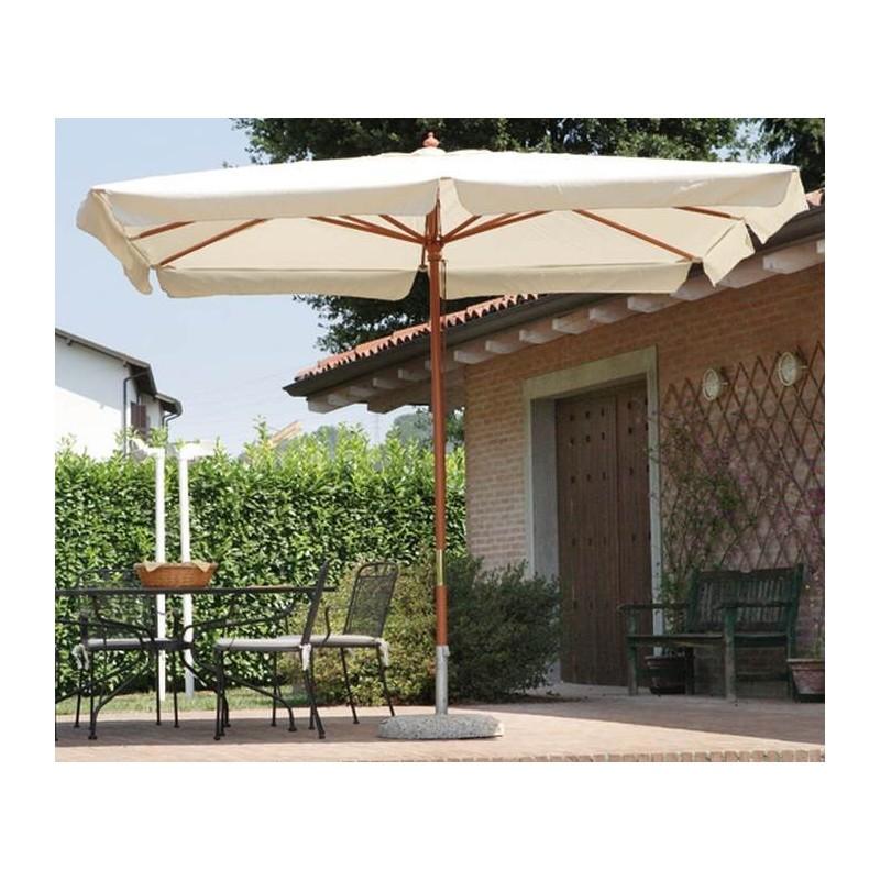 ombrellone quadrato serie standard 3 x 3 mt in legno moia. Black Bedroom Furniture Sets. Home Design Ideas